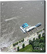 Gaming On The River Boats Acrylic Print