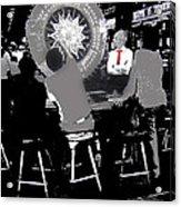Gaming Tables Interior Binion's Horseshoe Casino Las Vegas Nevada 1979-2014 Acrylic Print