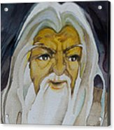 Gandalf Headstudy Acrylic Print by Patricia Howitt