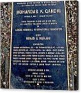 Gandhi Plaque Acrylic Print