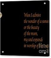Gandhi Quote Acrylic Print