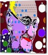 Gandhi Acrylic Print by Ricky Sencion
