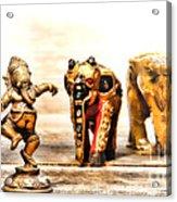 Ganesh Dream Acrylic Print by Olivier Le Queinec