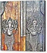 Ganesh Door Plating At The Yoga Maya Hindu Temple In New Delhi India Acrylic Print