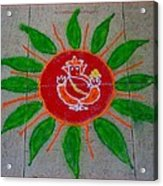 Ganesh Rangoli Acrylic Print