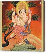 Ganesh Art Acrylic Print