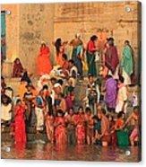 Ganges Pilgrims Acrylic Print