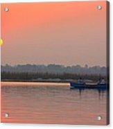 Ganges Sunset Acrylic Print
