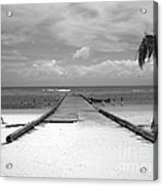 Gangplank Of Perfection Black And White Acrylic Print