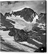 509427-bw-gannett Peak And Gooseneck Glacier, Wind Rivers Acrylic Print