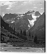 509417-bw-gannett Peak Seen From Dinwoody Creek Acrylic Print