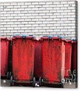 Garbage Bins Acrylic Print