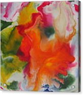 Garden Angel Abstract Acrylic Print