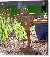 Garden Angel Acrylic Print