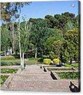 Garden At Montjuic In Barcelona Acrylic Print