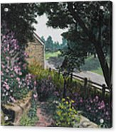 Garden At Pendarvis Mineral Point Wisconsin  1 Acrylic Print