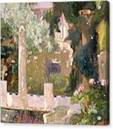 Garden At The Sorolla House Acrylic Print