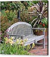 Garden Benches 3 Acrylic Print