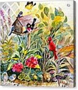 Garden Birds Acrylic Print