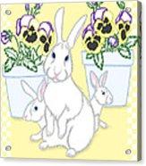 Garden Bunnies Acrylic Print