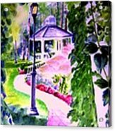 Garden City Gazebo Acrylic Print