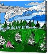 Garden Clouds Acrylic Print