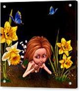 Garden Elf Acrylic Print