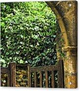 Garden Gate In Sarlat Acrylic Print