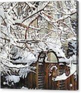 Garden Gate In Winter Acrylic Print