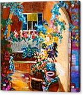 Garden Gazebo Acrylic Print