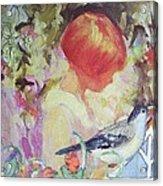 Garden Girl - Antique Collage Acrylic Print