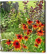 Garden Glimpse Acrylic Print