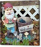 Garden Gnome - Square Acrylic Print