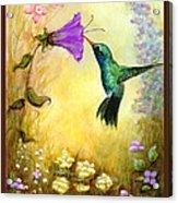 Garden Guest In Brown Acrylic Print