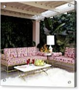 Garden-guest Room At The Chimneys Acrylic Print