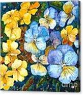 Garden Harmony Acrylic Print by Zaira Dzhaubaeva