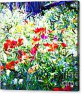 Garden Impressionism Acrylic Print