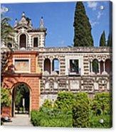 Garden In Alcazar Palace Of Seville Acrylic Print