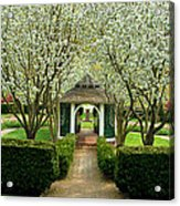Garden In Full Bloom Acrylic Print