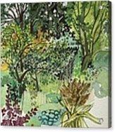 Garden In Llandielo, 1999 Watercolour On Paper Acrylic Print
