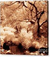 Garden Lily Pond Acrylic Print