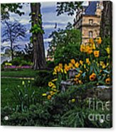 Sunset At Garden Of Les Invalides Acrylic Print
