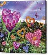 Garden Of Love 2 Acrylic Print by Alixandra Mullins