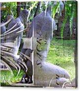 Garden Sculpture Acrylic Print