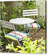 Garden Seating Area Acrylic Print
