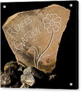 Garden Signs Acrylic Print by The Stone Age