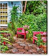 Garden Treasures At Aunt Eden's By Diana Sainz Acrylic Print