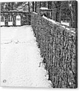 Garden Wall The Mount In Winter Acrylic Print