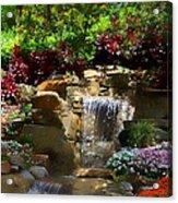 Garden Waterfalls Acrylic Print