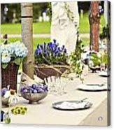 Garden Wedding Table Setting Acrylic Print